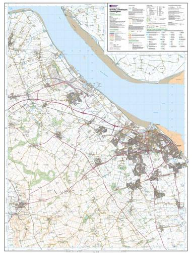 Folded Maps - Grimsby Cleethorpes Explorer Map - Ordnance Survey