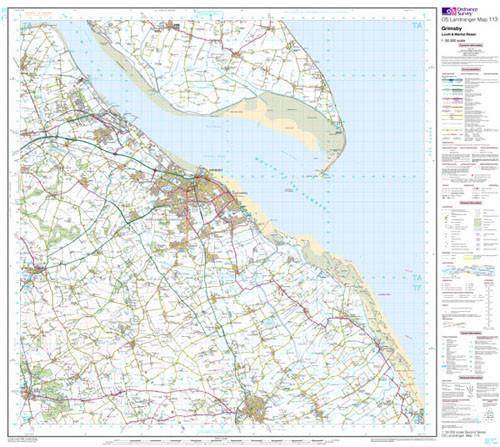Folded Maps - Grimsby Louth Landranger Map - Ordnance Survey