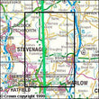 Folded Maps - Hertford Bishop's Stortford Explorer Map - Ordnance Survey