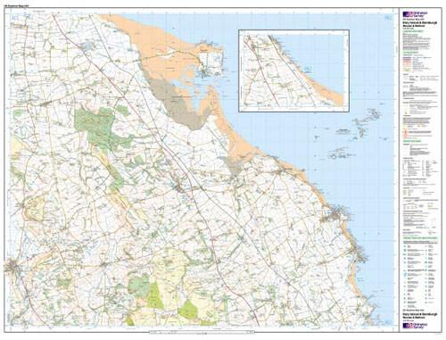 Folded Maps - Holy Island Bamburgh Explorer Map - Ordnance Survey