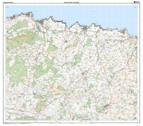 Folded Maps - Huntly Cullen Explorer Map - Ordnance Survey