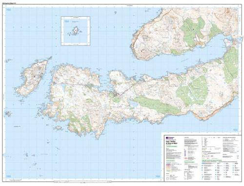 Folded Maps - Iona Staffa Ross Of Mull Explorer Map - Ordnance Survey