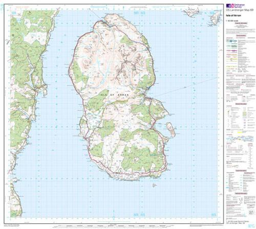 Folded Maps - Isle Of Arran Landranger Map - Ordnance Survey