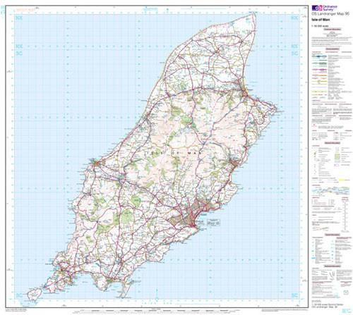 Folded Maps - Isle Of Man Landranger Map - Ordnance Survey