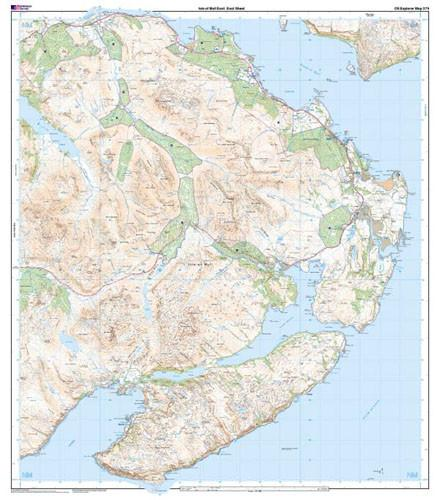 Folded Maps - Isle Of Mull East Explorer Map - Ordnance Survey