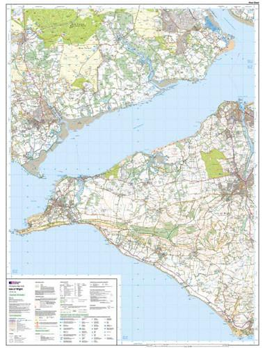 Folded Maps - Isle Of Wight Explorer Map - Ordnance Survey