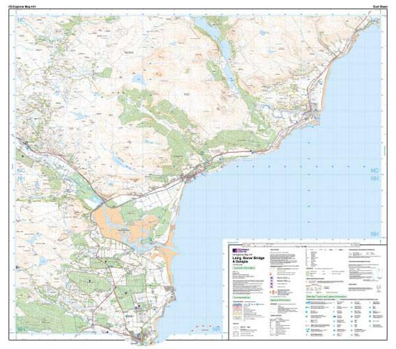 Folded Maps - Lairg Bonar Bridge Golspie Explorer Map - Ordnance Survey