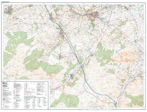 Folded Maps - Lanark Tinto Hills Explorer Map - Ordnance Survey