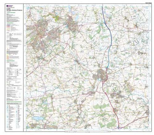 Folded Maps - Leeds Harrogate Wetherby Explorer Map - Ordnance Survey