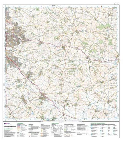 Folded Maps - Leicester Hinckley Explorer Map - Ordnance Survey