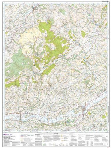 Folded Maps - Llandeilo Brechfa Forest Explorer Map - Ordnance Survey