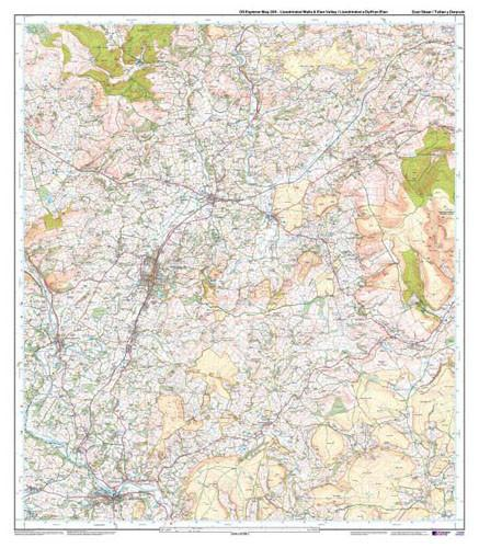 Folded Maps - Llandrindod Wells Elan Valley Explorer Map - Ordnance Survey
