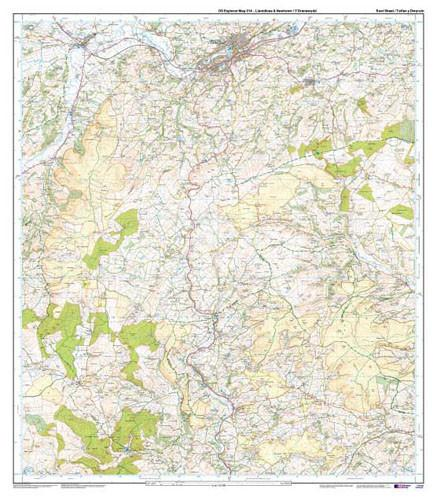 Folded Maps - Llanidloes Newtown Explorer Map - Ordnance Survey