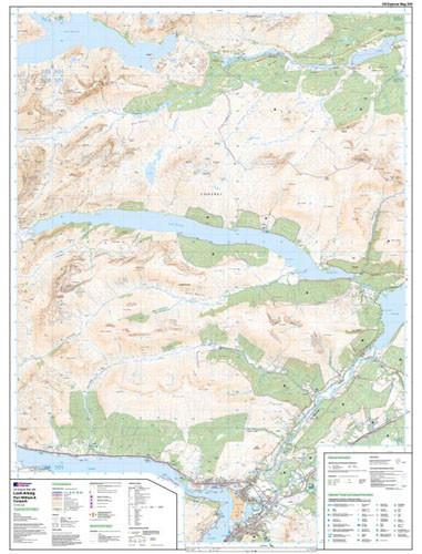Folded Maps - Loch Arkaig Explorer Map - Ordnance Survey