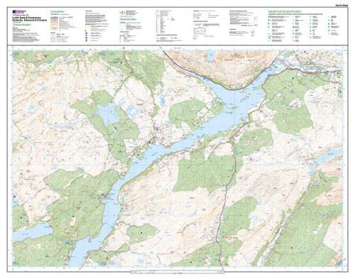 Folded Maps - Loch Awe Inveraray Explorer Map - Ordnance Survey