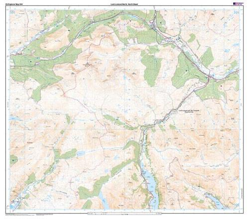 Folded Maps - Loch Lomond North Explorer Map - Ordnance Survey