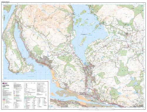 Folded Maps - Loch Lomond South Explorer Map - Ordnance Survey