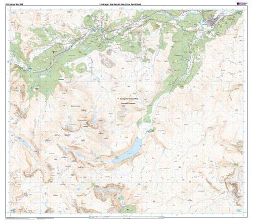 Folded Maps - Lochnagar Glen Muick Glen Clova Explorer Map - Ordnance Survey