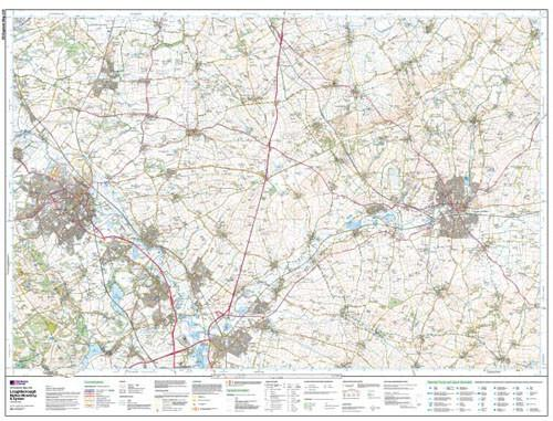Folded Maps - Loughborough Melton Mowbray Explorer Map - Ordnance Survey