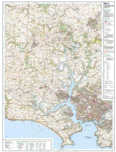Folded Maps - Lower Tamar Valley Plymouth Explorer Map - Ordnance Survey