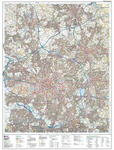 Manchester Salford Oldham Explorer Map Ordnance Survey Map Marketing