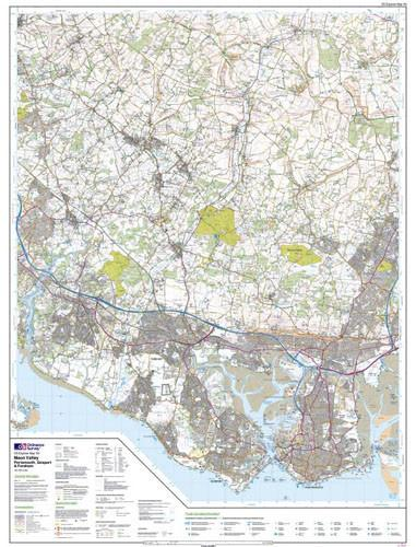 Folded Maps - Meon Valley Porstmouth Gosport Explorer Map - Ordnance Survey
