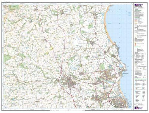 Folded Maps - Morpeth Blyth Explorer Map - Ordnance Survey