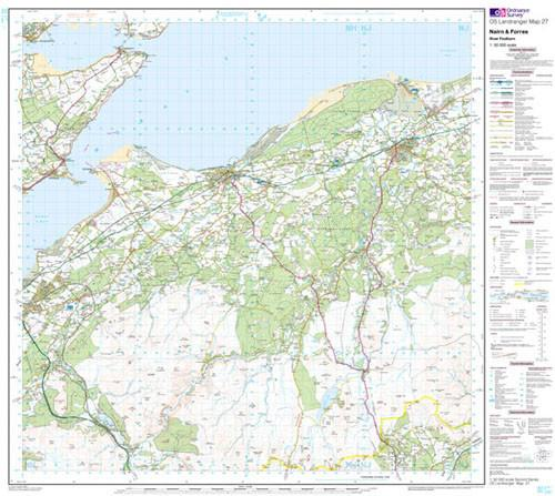 Findhorn Scotland Map.Nairn Forres River Findhorn Landranger Map Ordnance Survey