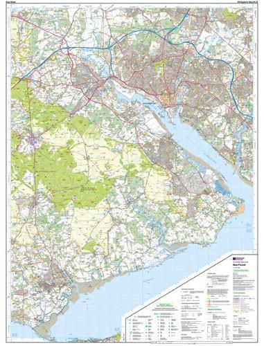 Folded Maps - New Forest Southampton Explorer Map - Ordnance Survey