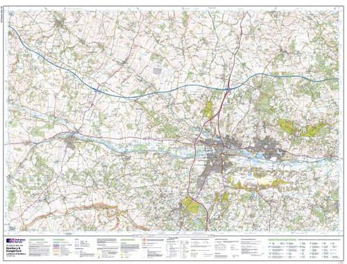 Folded Maps - Newbury Hungerford Explorer Map - Ordnance Survey