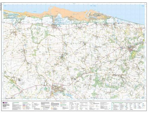 Folded Maps - Norfolk Coast Central Explorer Map - Ordnance Survey