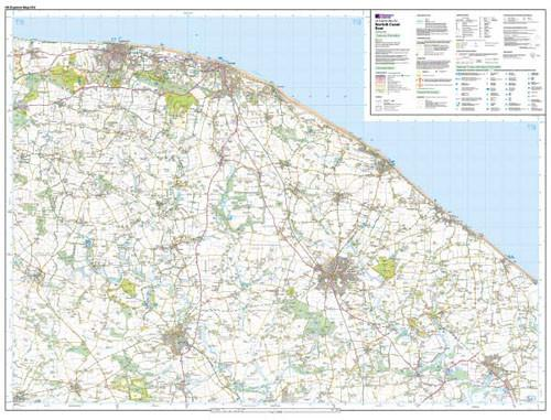 Folded Maps - Norfolk Coast East Explorer Map - Ordnance Survey