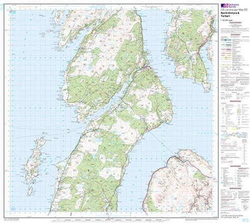 Folded Maps - North Kintyre Tarbert Landranger Map - Ordnance Survey