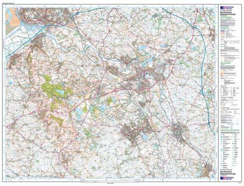 Folded Maps - Northwich Delamere Forest Explorer Map - Ordnance Survey