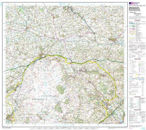 Folded Maps - Okehampton North Dartmoor Landranger Map - Ordnance Survey