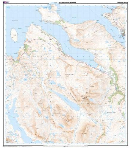 Folded Maps - Ordnance Survey Explorer Map An Teallach Slioch