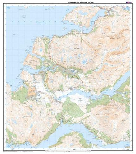 Folded Maps - Ordnance Survey Explorer Map Ardnamurchan