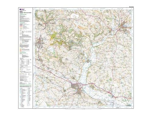 Folded Maps - Ordnance Survey Explorer Map Derby Uttoxeter Ashbourne And Cheadle