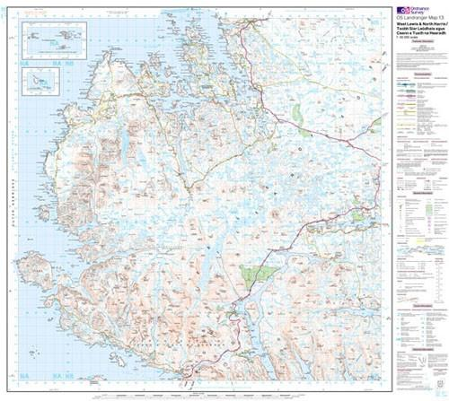 Folded Maps - Ordnance Survey Landranger Map West Lewis North Harris