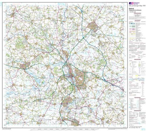 Folded Maps - Oxford Chipping Norton Landranger Map - Ordnance Survey