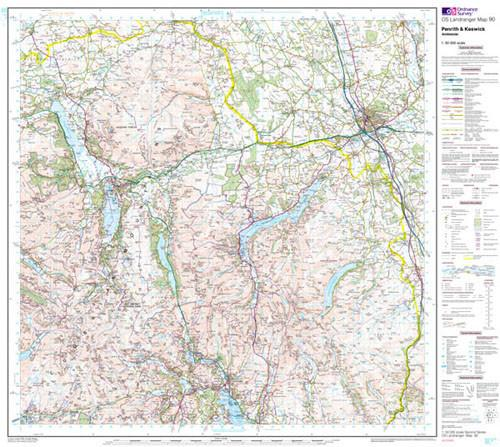 Folded Maps - Penrith Keswick Ambleside Landranger Map - Ordnance Survey