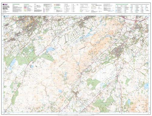 Folded Maps - Pentland Hills Explorer Map - Ordnance Survey
