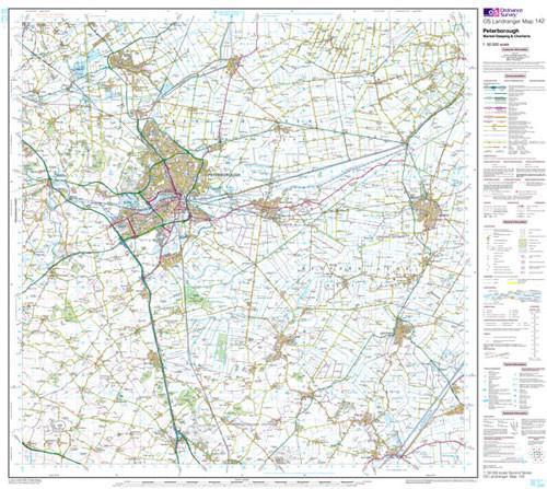 Folded Maps - Peterborough Market Landranger Map - Ordnance Survey