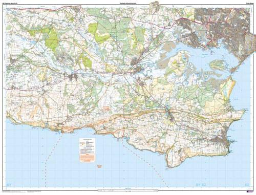Folded Maps - Purbeck And South Dorset Poole Explorer Map - Ordnance Survey