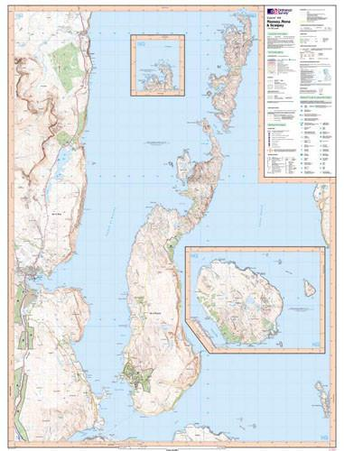 Folded Maps - Raasay Rona Scalpay Explorer Map - Ordnance Survey
