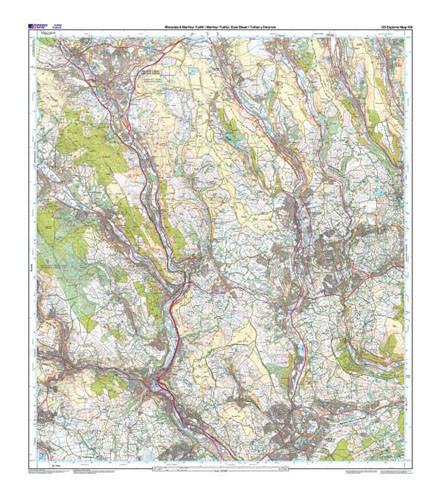 Folded Maps - Rhondda Merthyr Tydfil Explorer Map - Ordnance Survey