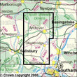 Folded Maps - Romsey Andover Test Valley Explorer Map - Ordnance Survey