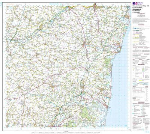 Folded Maps - Saxmundham Aldeburgh Landranger Map - Ordnance Survey