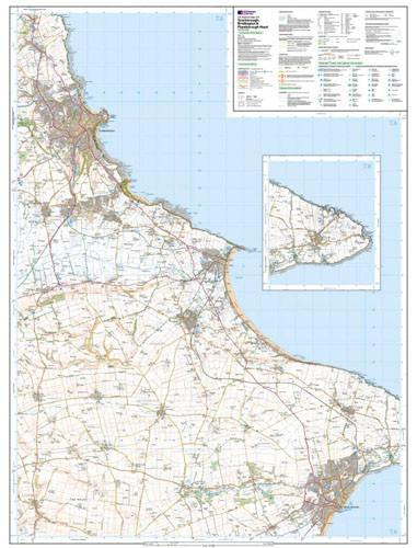 Folded Maps - Scarborough Bridlington Explorer Map - Ordnance Survey