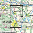Folded Maps - Sheffield Barnsley Explorer Map - Ordnance Survey